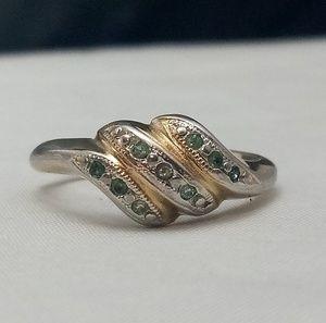 ef660fcb9f2b2 Vintage Joseph Esposito 14K GE Two Tone Ring Sz 6